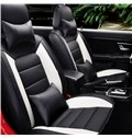 Top Leather Simple Design Stitching Color Front Single-seat Universal Car Seat Cover