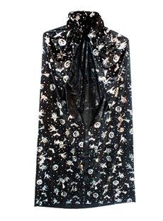 Adult Men&Women's Satin Cloak Bronzing Cape