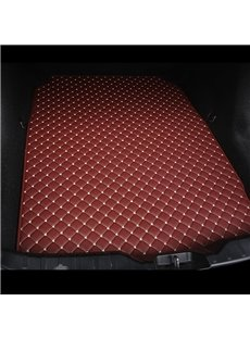 Cost-effective Classic High-quality Leather Burgundy Custom Car Trunk Cushion