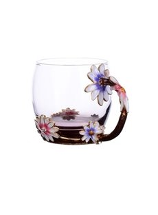Wonderful and Transparent Enamels Glass Durable Decorative and Economic Coffee Mugs