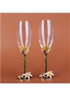 Amazing and Artistic Crystal Enamel Materials Home or Party Modern Wine Glasses
