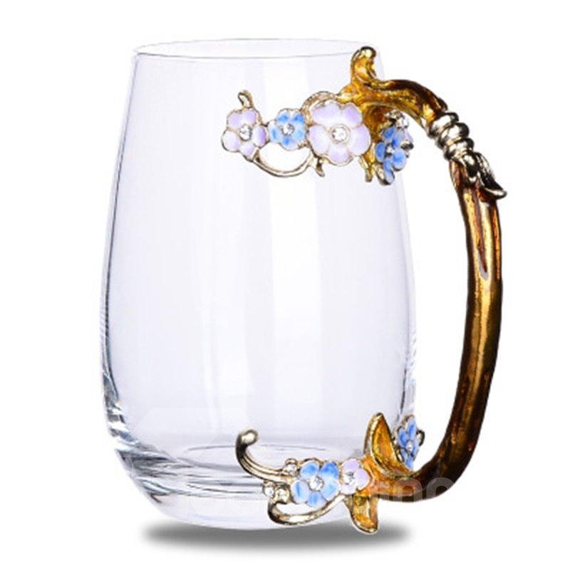 Transparent Enamel Glass Modern and Elegant Home and Office Tea Cups