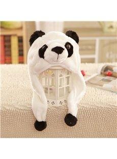 Panda Bear Plush Animal Winter Ski Hat Aviator Style Winter