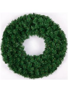 Bright Green Wreath Christmas Door and Trees Decorations Festival Home Decor