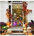30×79in 3D Halloween Boys Girls Jack-o-lanterns PVC Environmental and Waterproof Door Mural