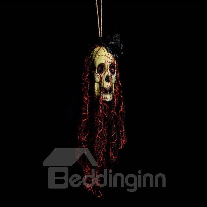 Halloween Bar House Decoration Ghost Head Horror Red