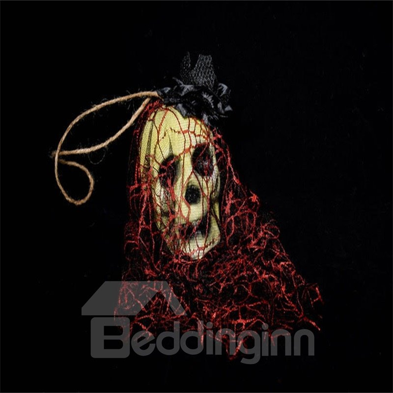 Halloween Bar House Decoration Ghost Head Horror Red