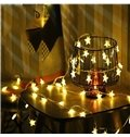 Romantic and Pretty Solid or Colorful Stars Festival Room Door and Tree LED Strings