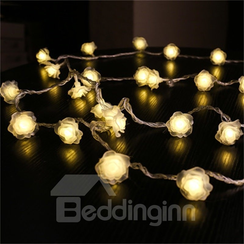 Christmas and Festival Water-Proof and Decorative Indoor and Outdoors Colorful Rose LED String
