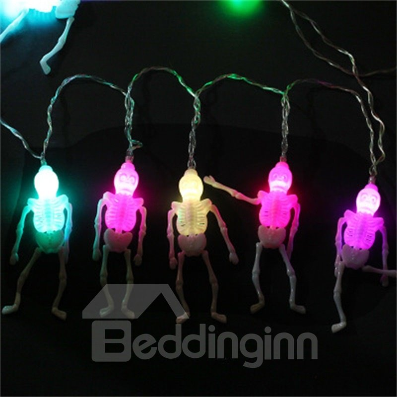 Hot Selling Halloween Decorative Colorful Skulls LED Strings Door and Room Decoration