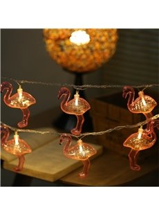 Cute and Lovely Flamingos Halloween and Festival Room and Outdoor LED Strings
