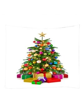 Christmas Trees with Colorful Ornaments Pattern Decorative Hanging Wall Tapestry