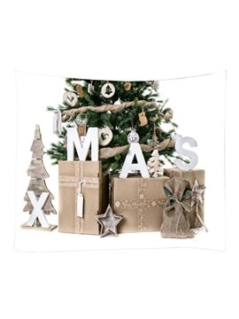 Merry Christmas Elegant Gifts and Tree Decorative Hanging Wall Tapestry