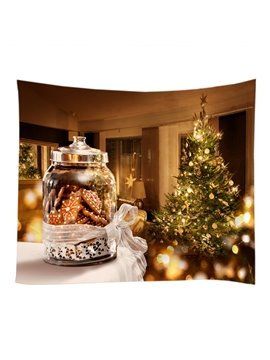 Christmas Trees Ornaments Pattern Decorative Hanging Wall Tapestry