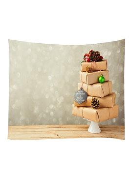 Festival Christmas Gifts Pattern Decorative Hanging Wall Tapestry