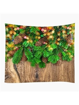 Festival Christmas Trees and Board Pattern Decorative Hanging Wall Tapestry