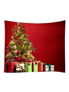 Christmas Gifts and Decoration Tree Red Hanging Wall Tapestry