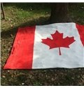 59*78in Canadian Flag Pattern Flannel Soft Printed Blankets