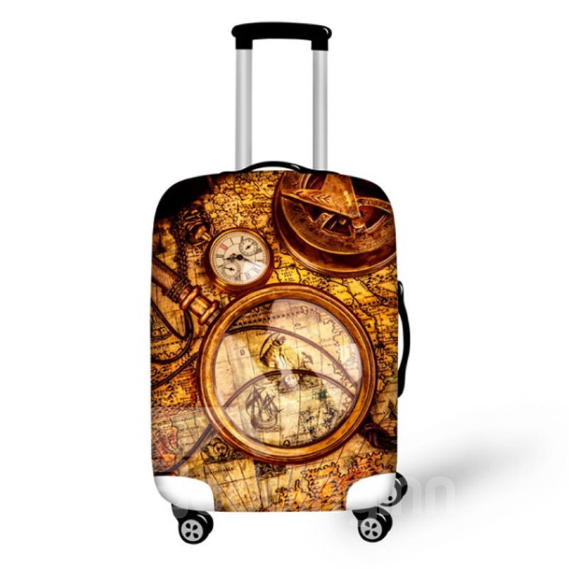 Map with Clock Waterproof Suitcase Protector for 19 20 21