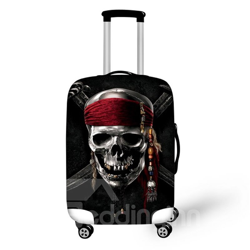 Pirate Skull Pattern Waterproof Suitcase Protector for 19 20 21