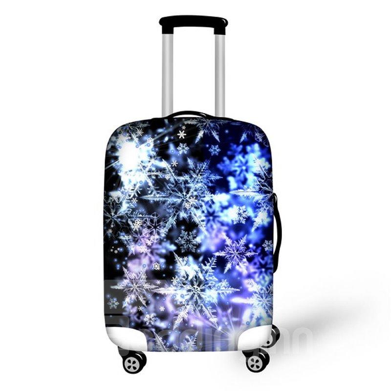 Christmas Winter Snowflake Pattern Waterproof Suitcase Protector for 19 20 21