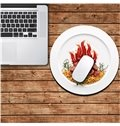3D Delicious Dish Pattern Removable Mouse Pad Desk Stickers