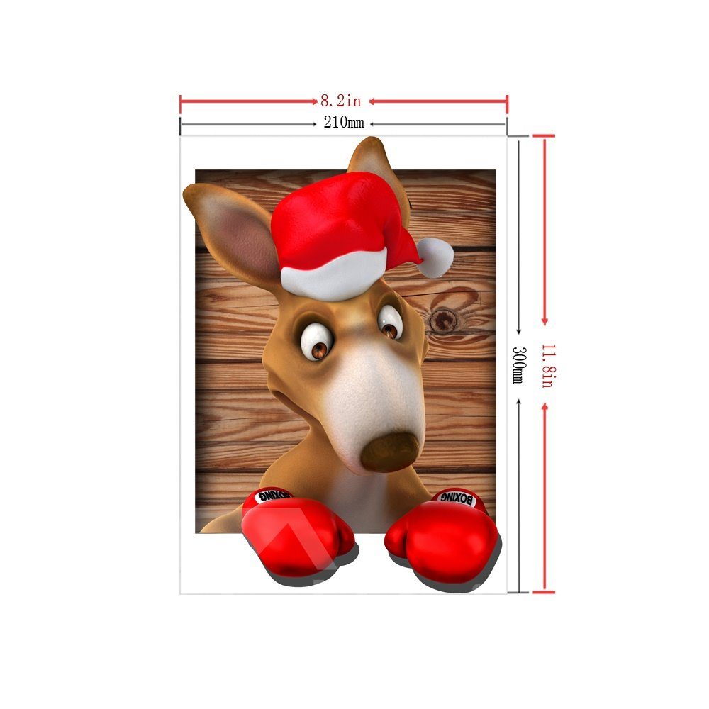 3D Christmas Puppy Pattern Removable Mouse Pad Desk Stickers