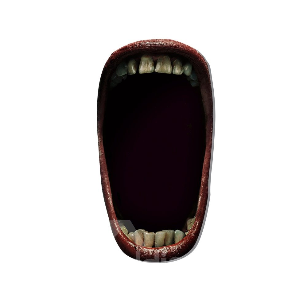 3D Big Mouth Halloween Pattern Removable Mouse Pad Desk Stickers