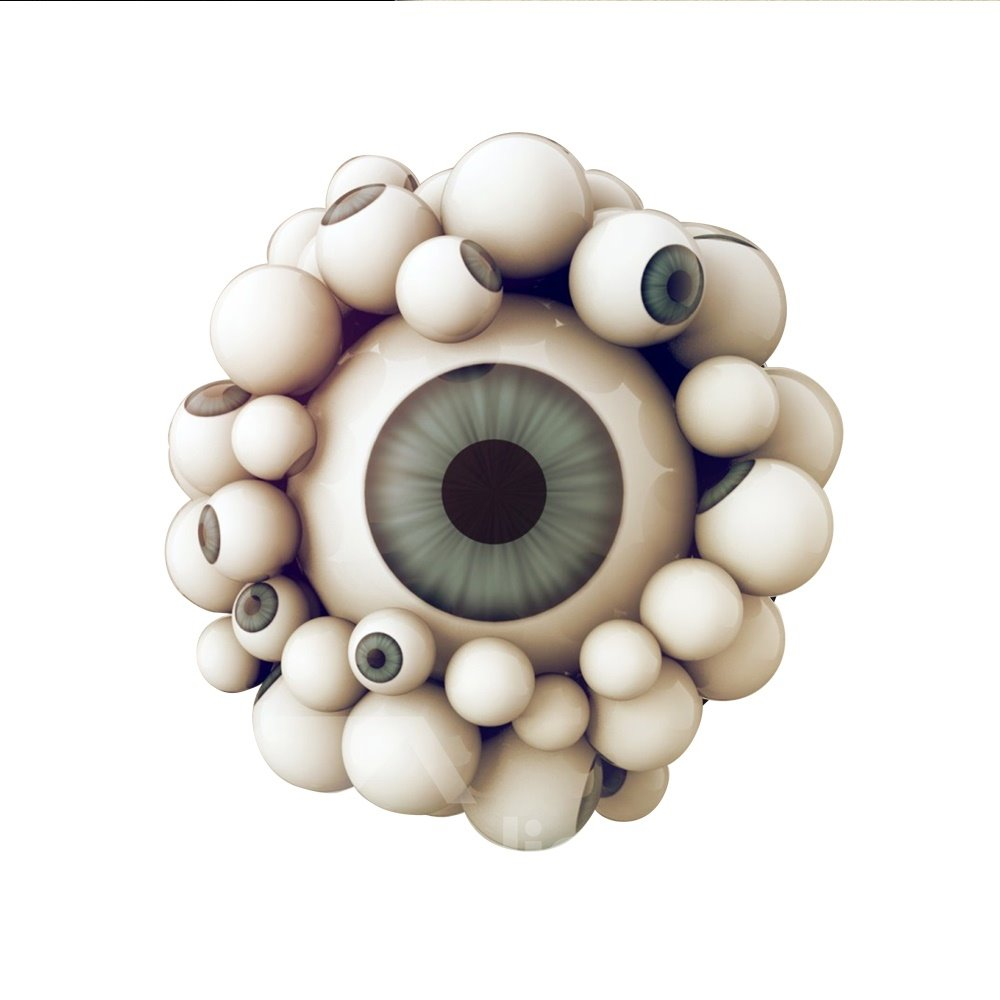 3D Eyeball Pattern Removable Mouse Pad Desk Stickers