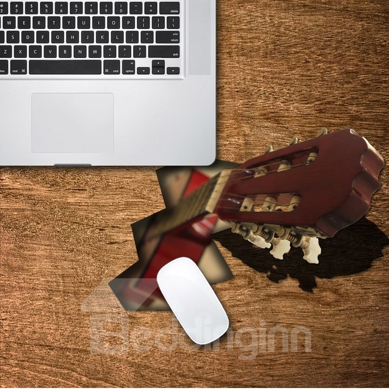 3D Guitar Shade Pattern Removable Mouse Pad Desk Stickers