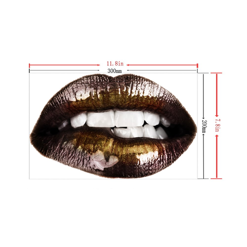 3D Red Lips Halloween Pattern Removable Mouse Pad Desk Stickers