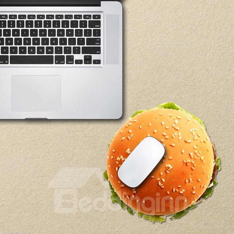 3D Hamburger Pattern Removable Mouse Pad Desk Stickers