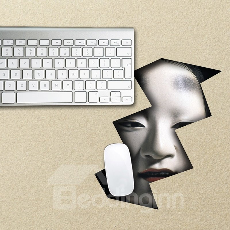 3D Horror Face Pattern Removable Mouse Pad Desk Stickers