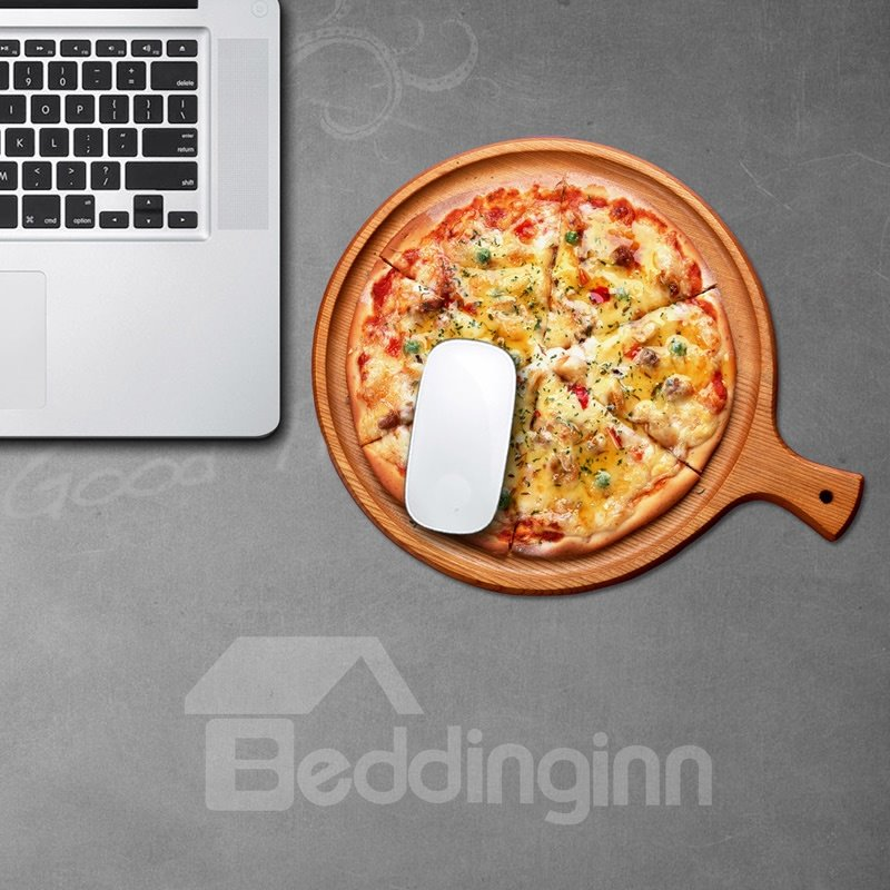 3D Pizza Pattern Removable Mouse Pad Desk Stickers