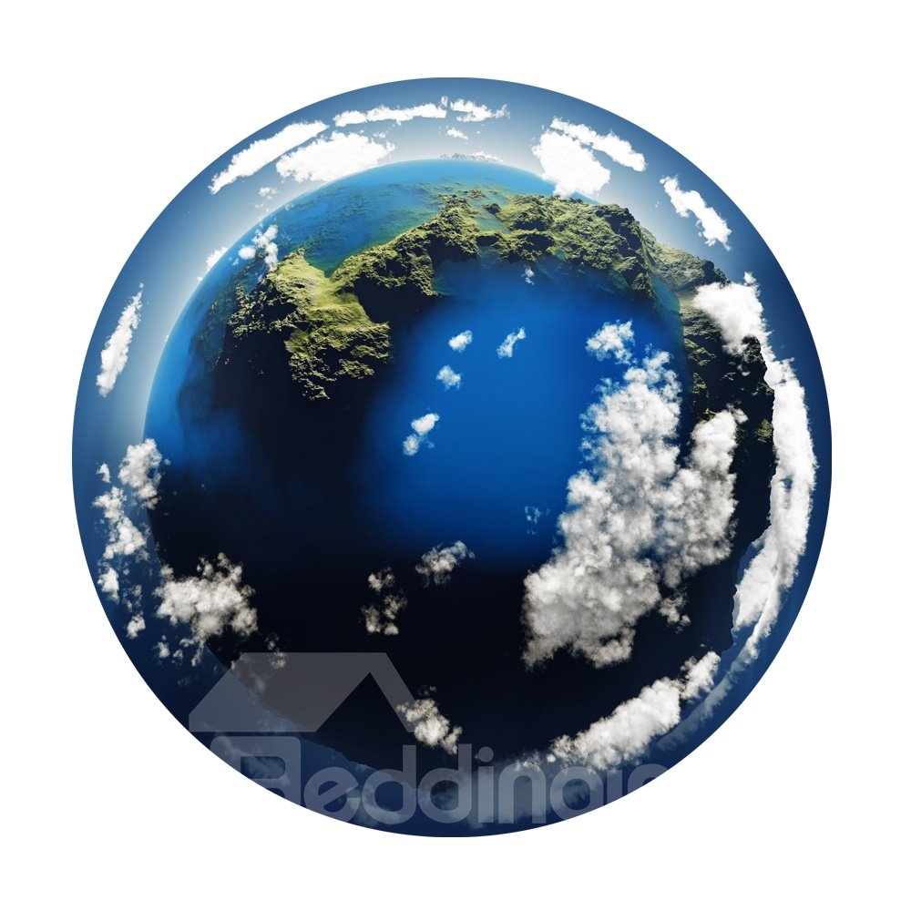 3D Earth View Pattern Removable Mouse Pad Desk Stickers