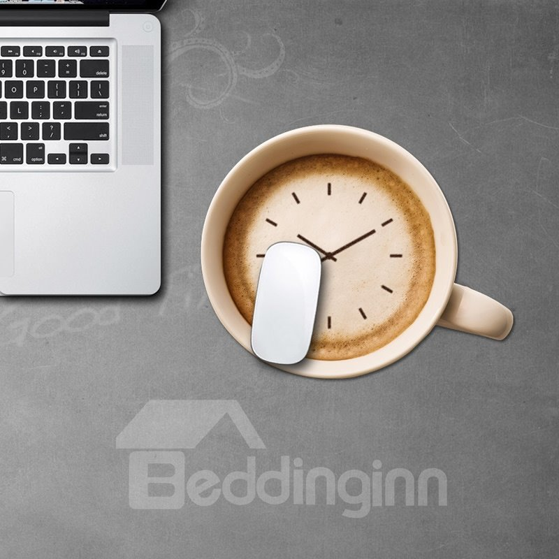 3D Clock Pattern Removable Mouse Pad Desk Stickers