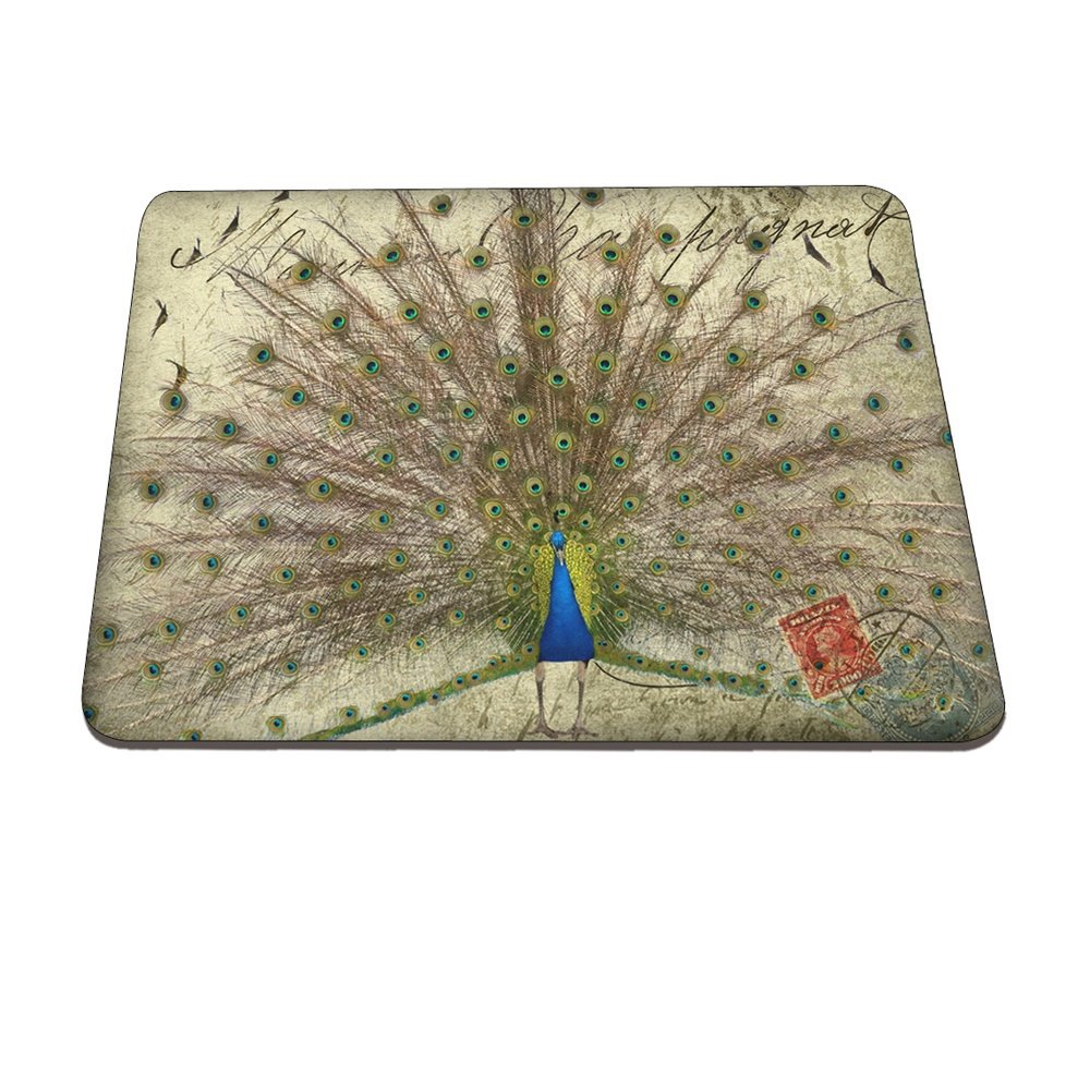 Peacock Stamp Pattern Hard Plastic Cover for MacBook