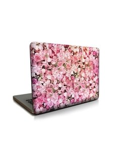 Pink Floral Pattern Hard Plastic Cover for MacBook