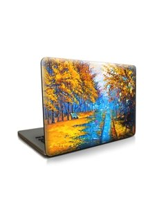 Fall Leaves Yellow Pattern Hard Plastic Cover for MacBook