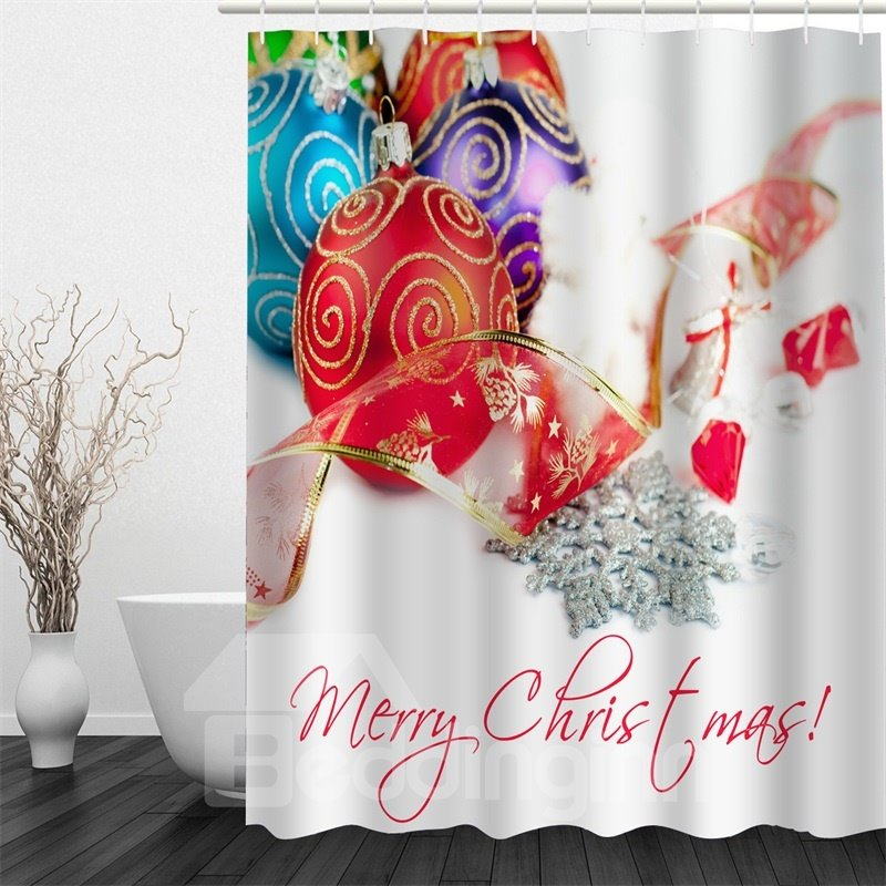 3D Christmas Gifts Polyester Waterproof Antibacterial and Eco-friendly Shower Curtain