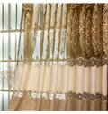 High Quality Chenille Materials Hollowed-out 2 Panels Living Room and Bedroom Drapes
