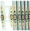 Light Blue High Quality Chenille 2 Pieces Decorative and Breathable Living Room Drapes