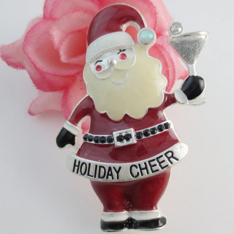 Holiday Christmas Xmas Santa Claus Shape Brooch Pin Jewelry Gift