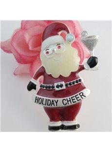 Holiday Christmas Xmas Santa Claus Shape Brooch Pin Jewelry Gift