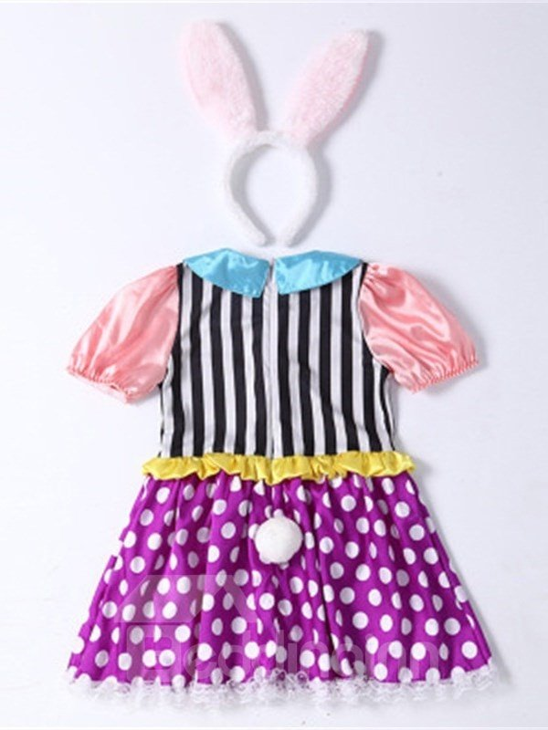 Halloween Rabbit Shape Polyester and Net Cloth Kids Costume