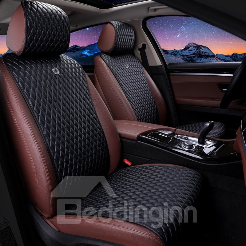Girly Design Soft Pink Leather Universal Fit Car Seat Covers