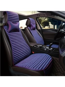 Gradually Changing Color Textured Fashion Good Permeability Flax Material Universal Car Seat Cover