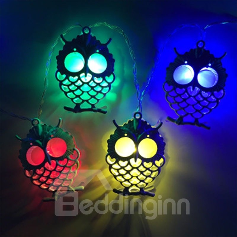 Creative and Modern Style Big Eye Owl Shape Design 1.5Meter Strip LED Lights