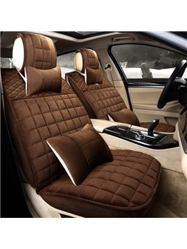 Cost-efficient Pure Color Younger Soft Comfortable Universal Car Seat Covers
