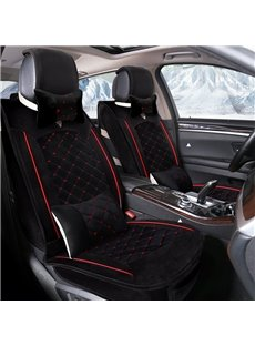 Cost-effective Pure Color Luxurious Velvet Suede Warm Universal Car Seat Cover